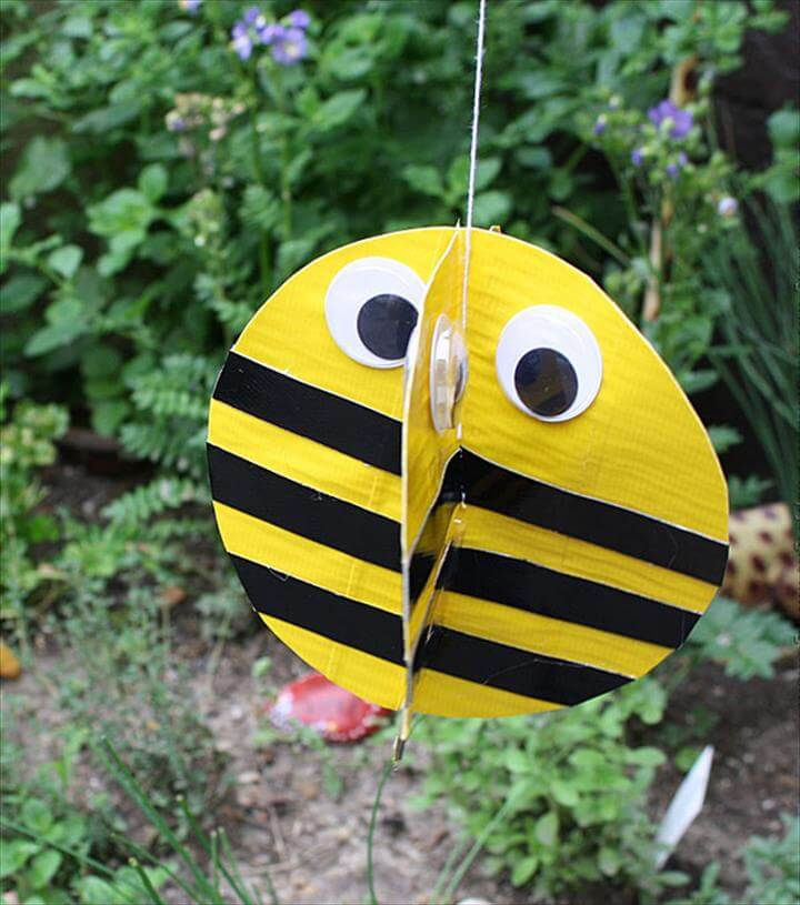 DIY duct tape bee craft