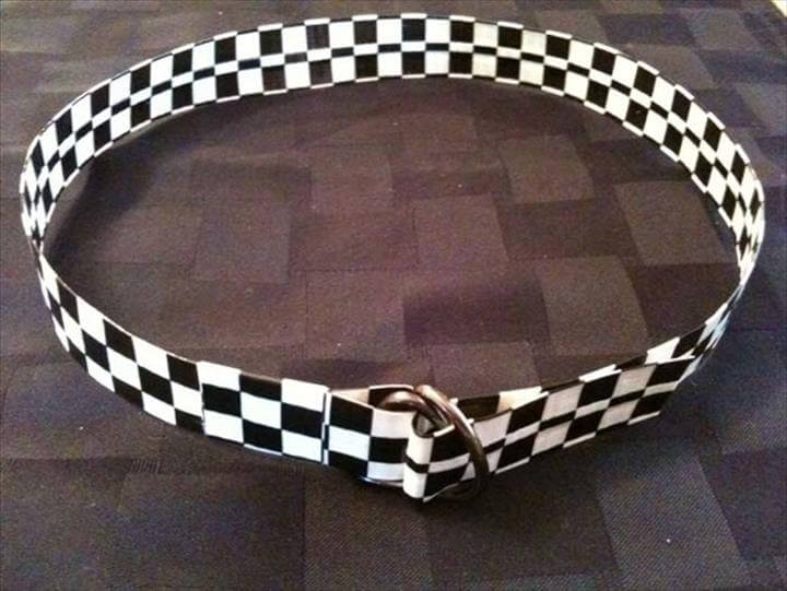 Fashion a belt out of duct tape.