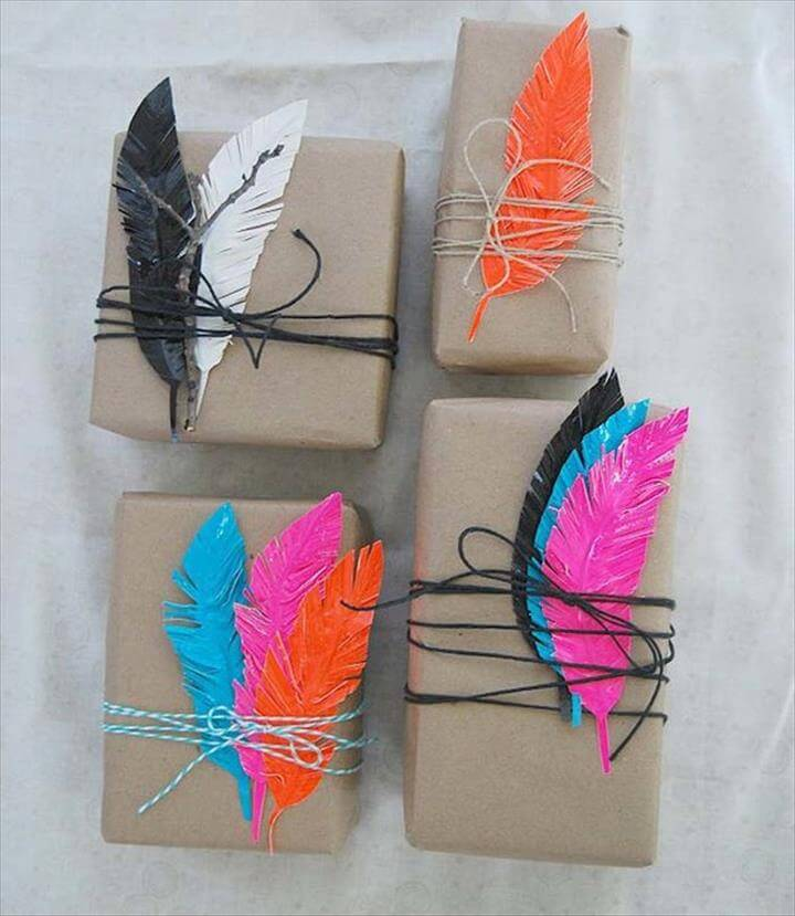 Cut out some duct tape feathers.