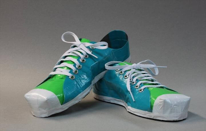 DIY Duct Tape Brand New Shoes