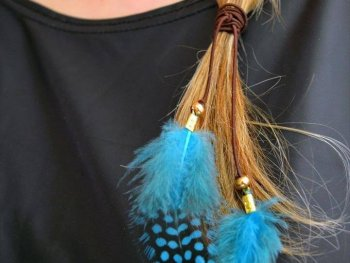 Feather Hair Tie!