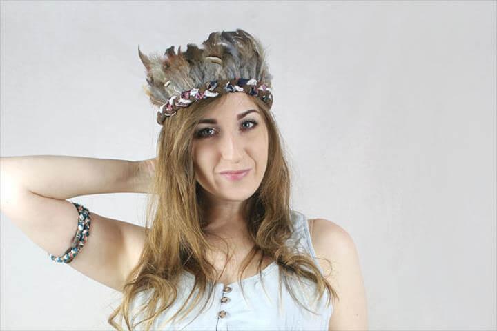 Festival Style: Boho Feather Crown DIY