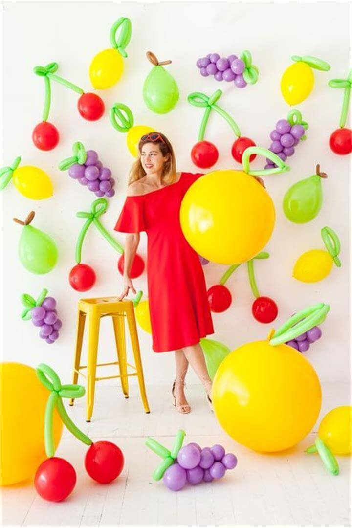 DIY Balloon Fruit