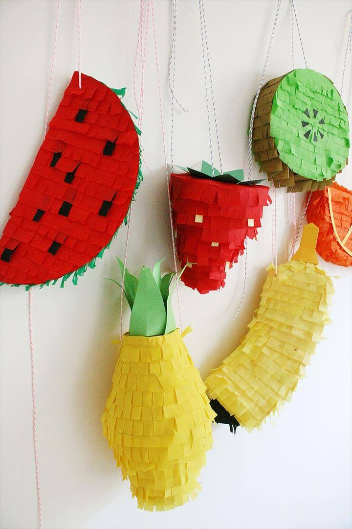 These fruit pinatas are almost too cute to break apart for the hidden goodies