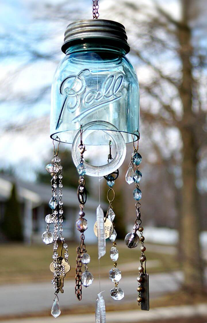 Wind mason jar idea, diy mason jar idea, how to make, easy to make