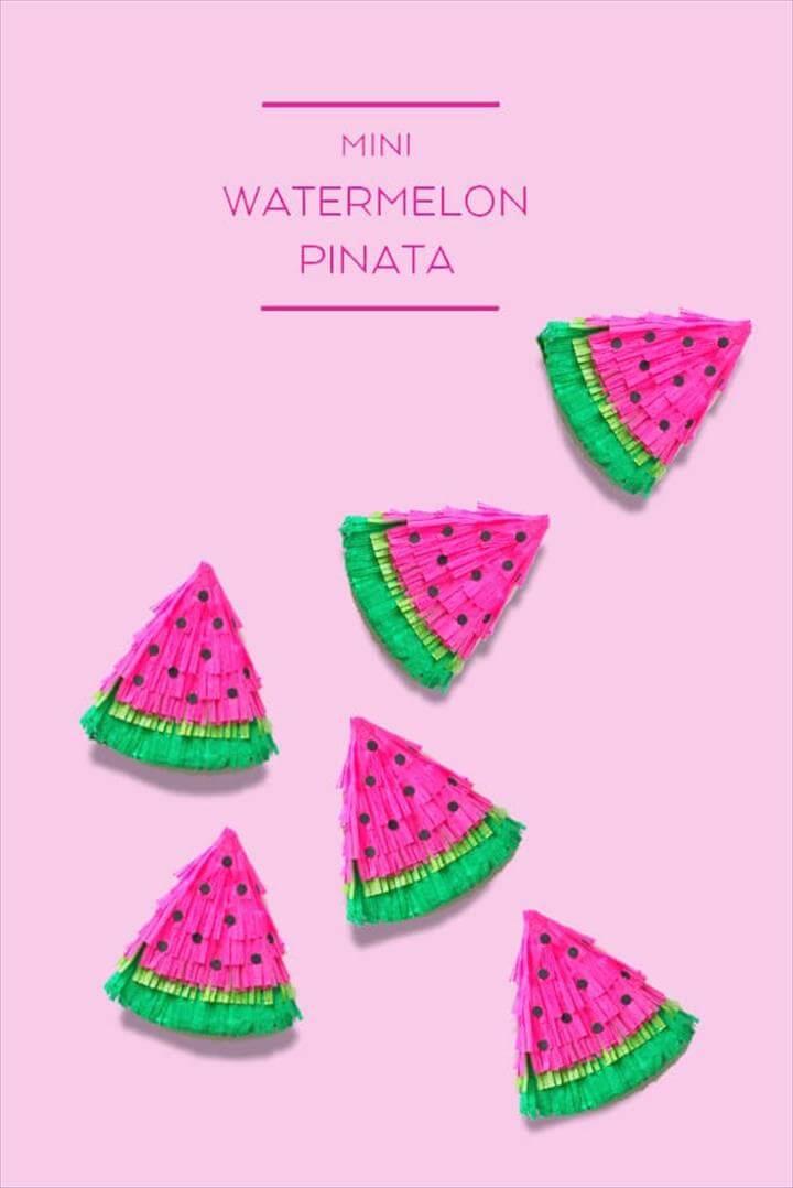 DIY Watermelon Mini PInata