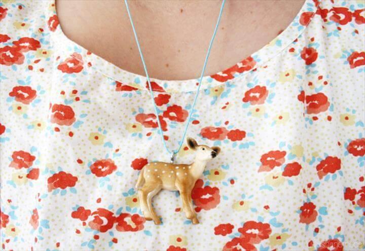 DIY: Toy Animal Necklace