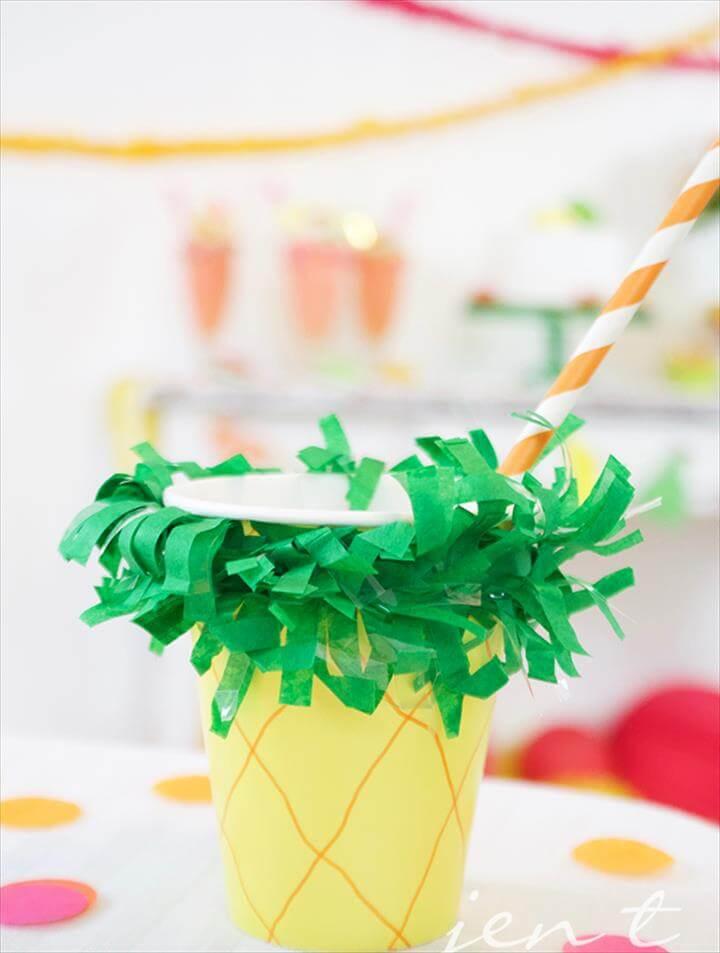 Tutti Frutti Party - DIY Pineapple Cup