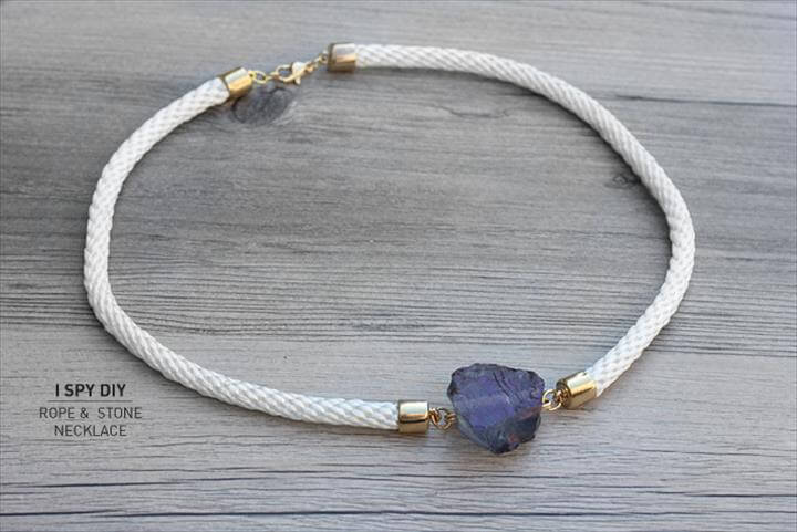 diy stone rope necklace