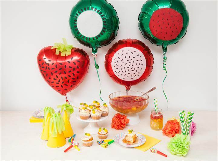 DIY tutti frutti kids party