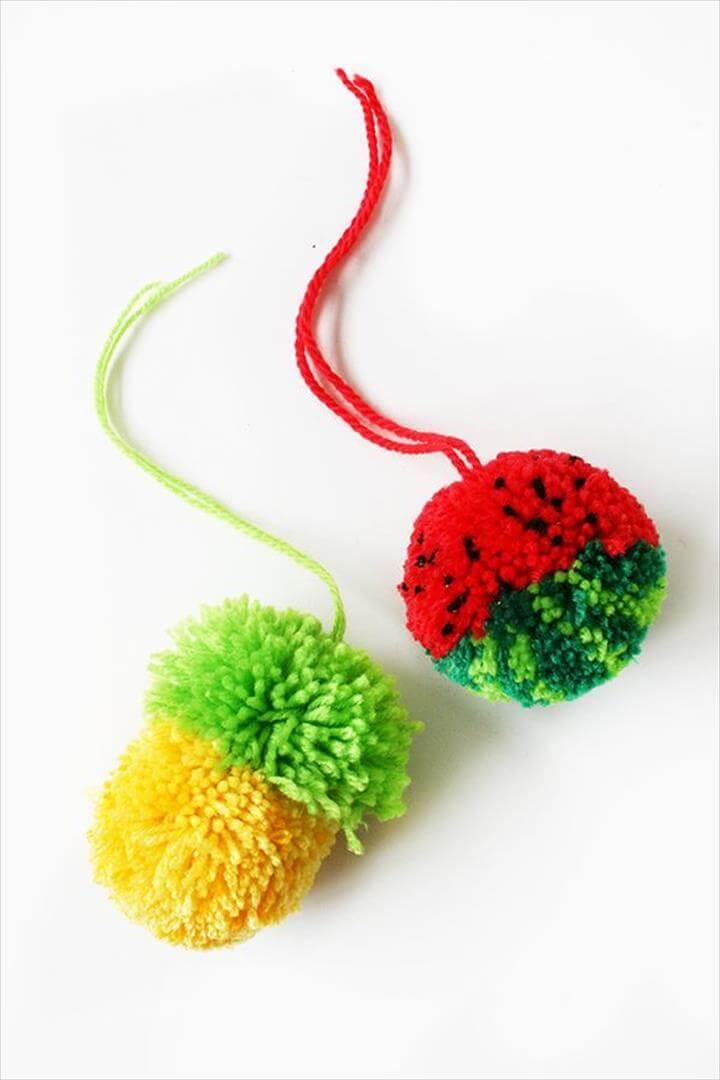 Tutti Frutti Pom-Poms - Tuts+ Crafts & DIY Tutorial