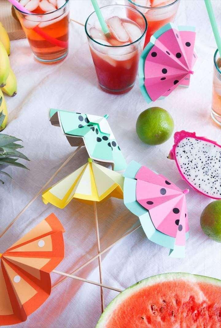 Tutti Frutti DIY Cocktail Umbrellas