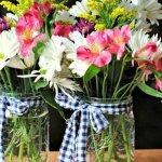 Wedding mason jar, how to, mason jar, diy mason jar, do it yourself, ribbon mason jar