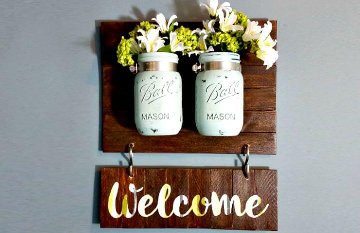 welcome sign mason jar, sign mason jar, easy to, hanging mason jar