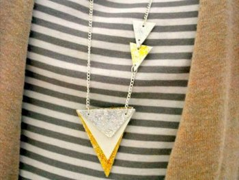 GEOMETRIC DIY STATEMENT NECKLACE