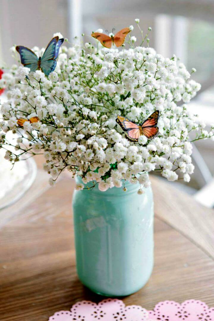 ombre arrangement mason jar, diy mason jar, mason jar idea, easy mason jar idea