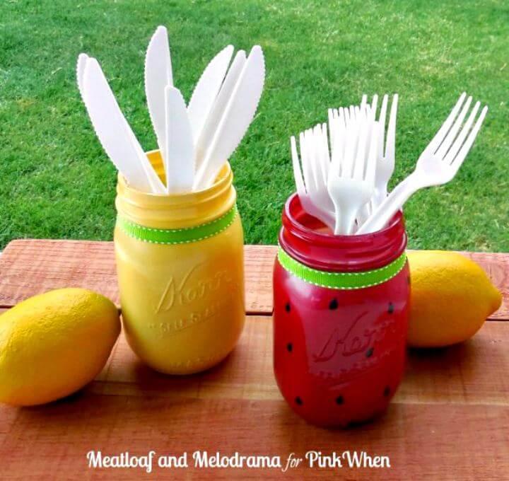 Summer mason jar, diy summer, summer diy ideas, creative mason jar ideas