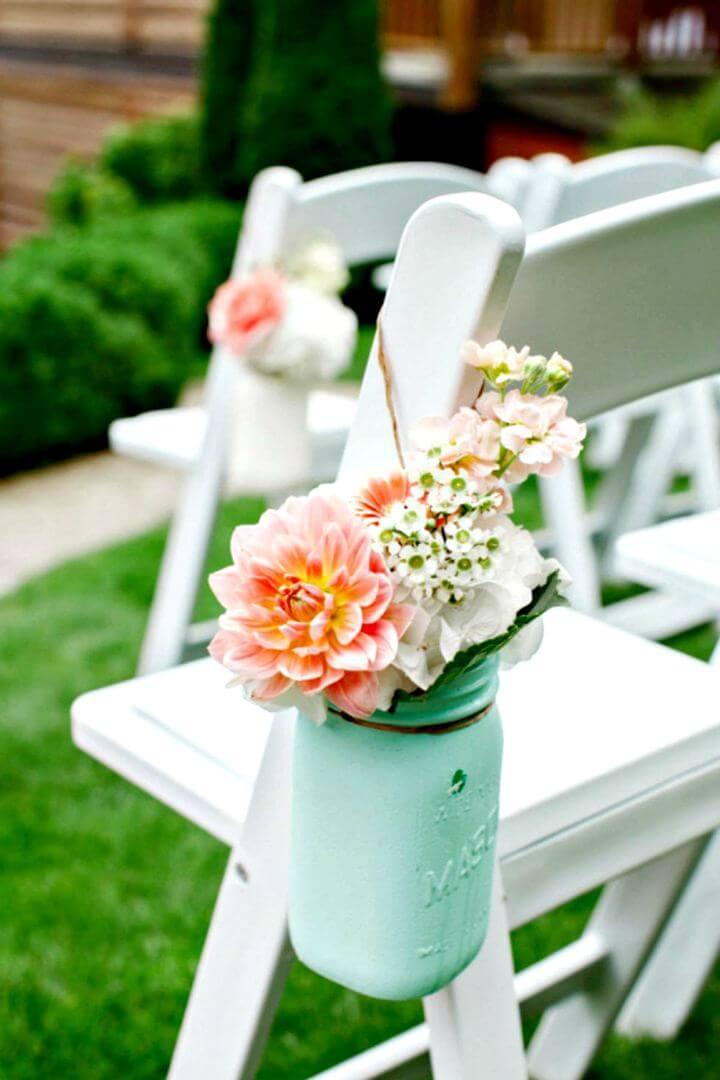 flower mason jar, arrangement mason jar, easy to mason jar, how to,