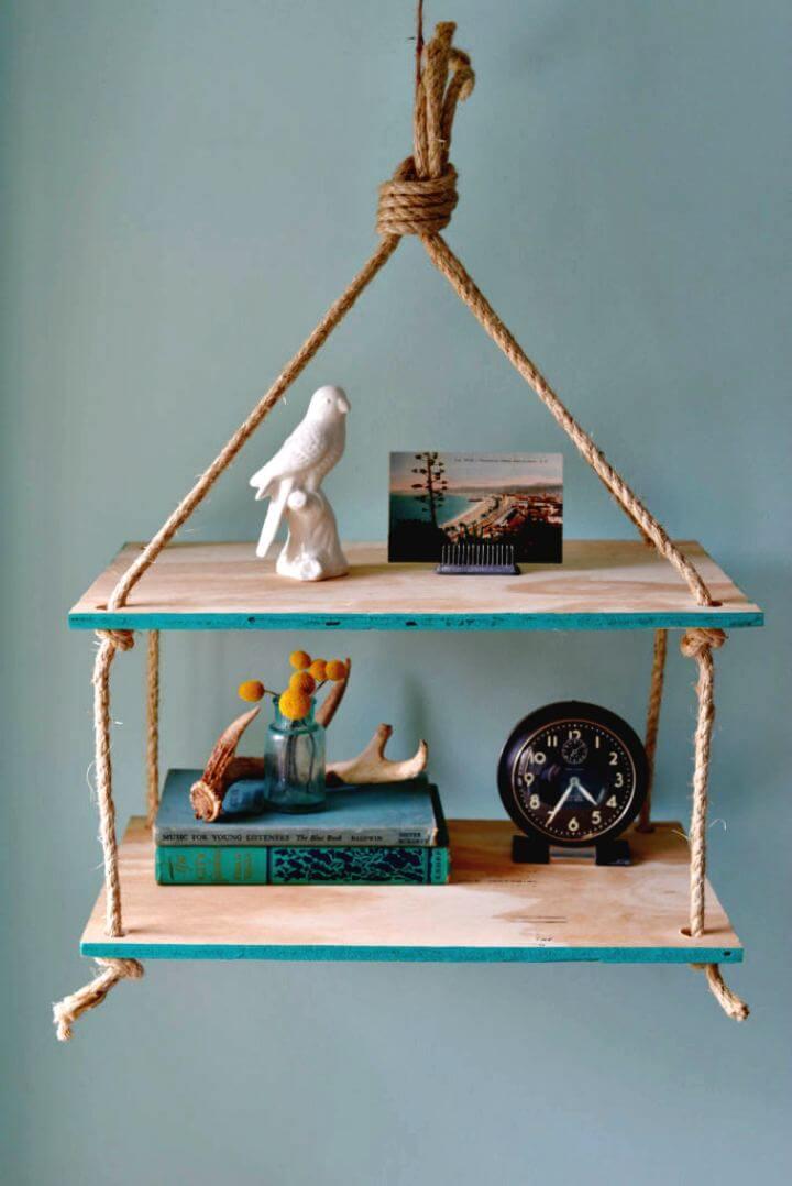diy home ideas, hanging ideas, shelf hanging idea