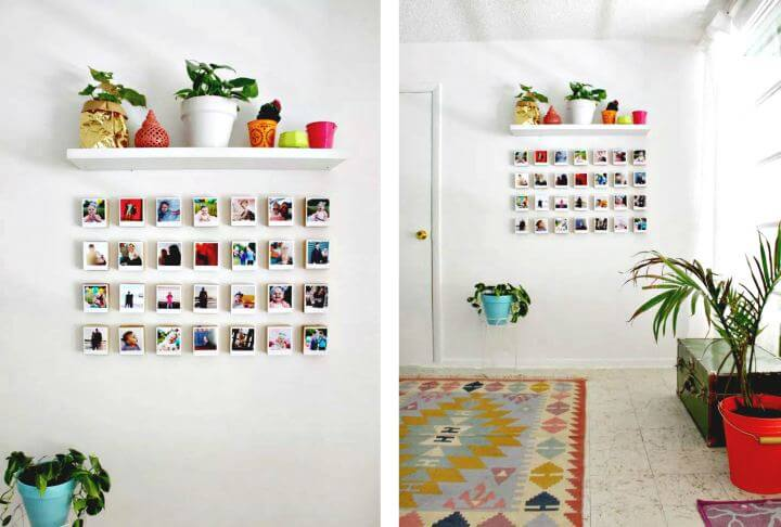 diy home idea, diy wall decor idea. diy pictures hanging idea