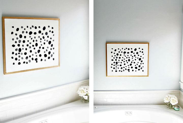 diy wall dots idea, diy home decor idea, diy crafts idea, diy room decor idea
