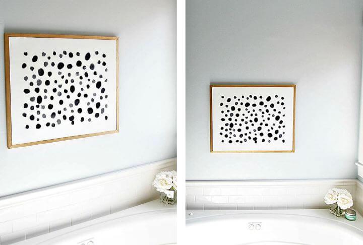 diy wall dots idea, diy home decor idea, diy crafts idea, diy room decor idea