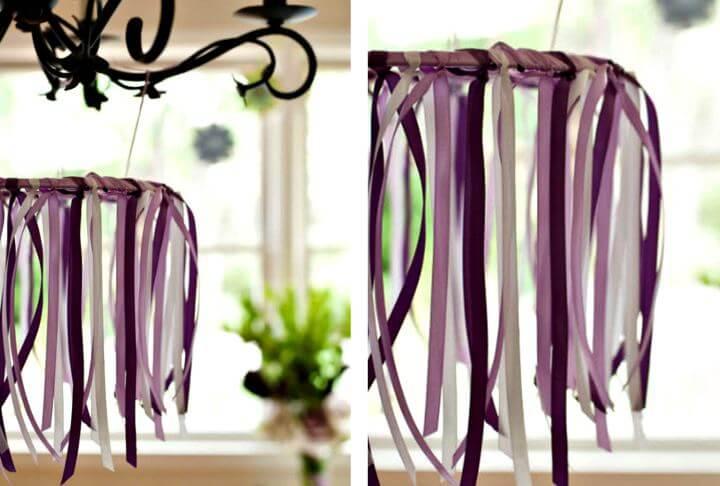 diy ribbon hanging idea, diy room decor idea, diy crafts idea