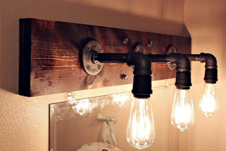 diy bathroom decor, diy home decor, diy lightning idea