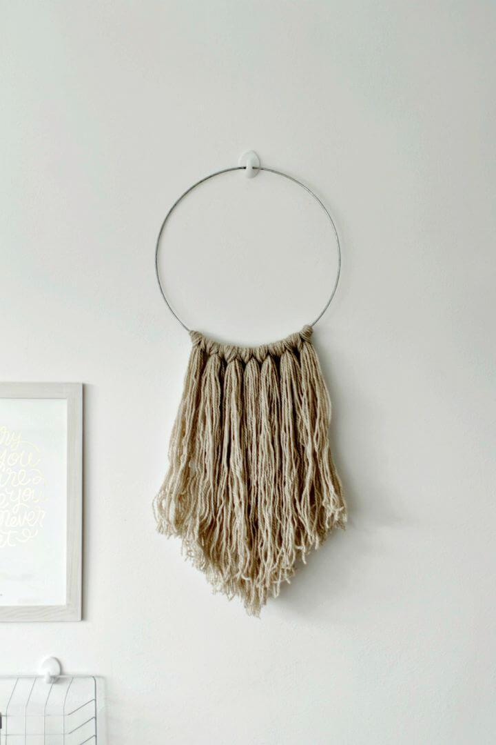 wall hanging idea, easy decor idea, 5 mint decor idea, how to easy