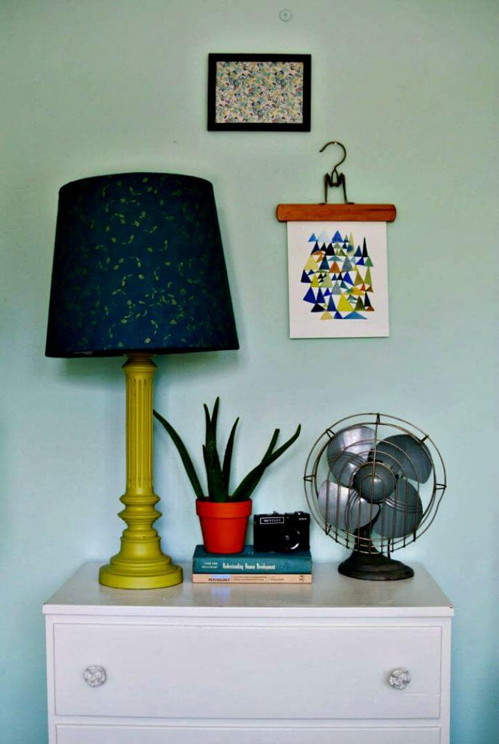 lamp idea, diy fabric lampshade diy, how to, room decor idea