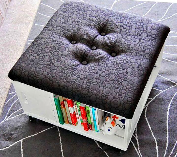 storage idea, room decor idea, room decor ottoman, how to easy