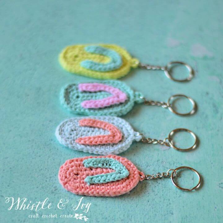 crochet keychain, crochet pattern, crochet ideas, crochet rings