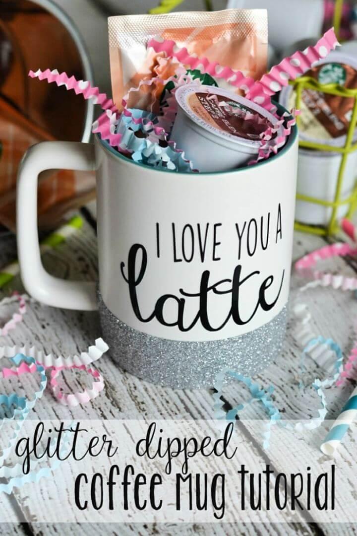 cute mug ideas, diy mug idea, how to, easy to, glitter idea