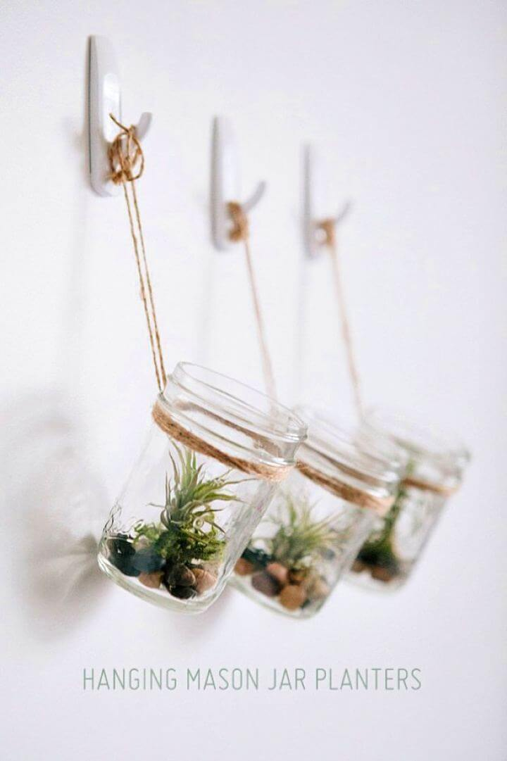 hanging mason jar, planter mason jar, diy mason jar, do it yourself
