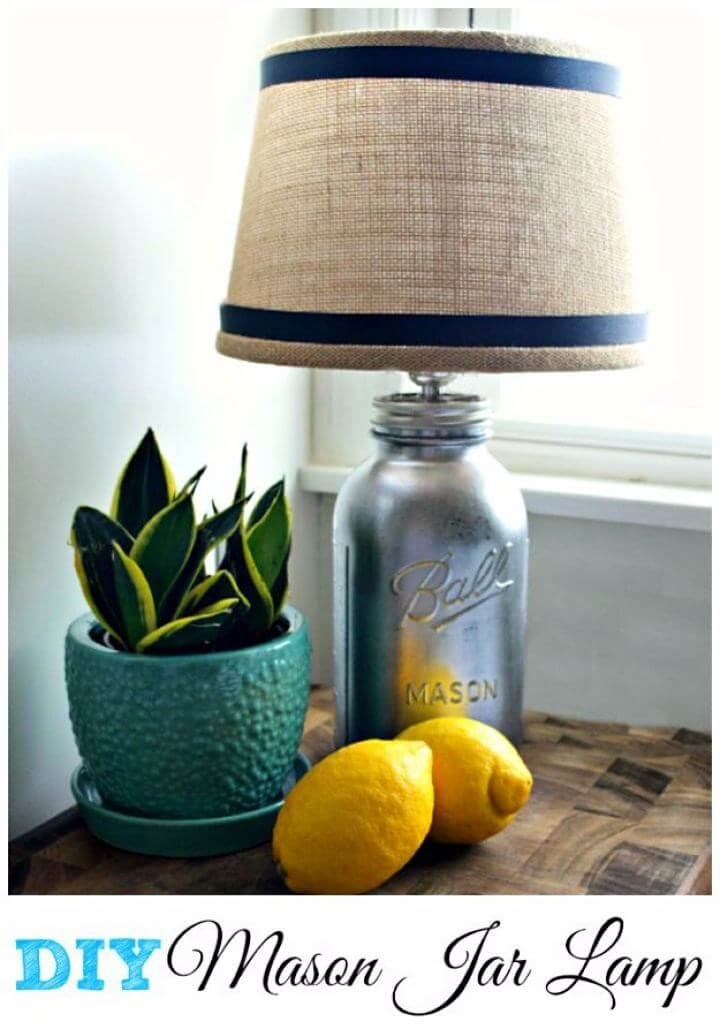 lamp mason jar, diy lamp mason jar, lightning mason jar, creative mason jar