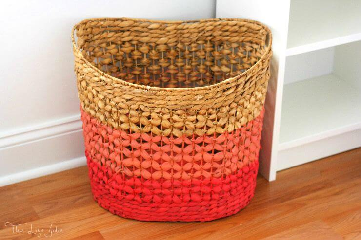 Ombre basket idea, creative idea, room decor, colorful idea, home decor idea