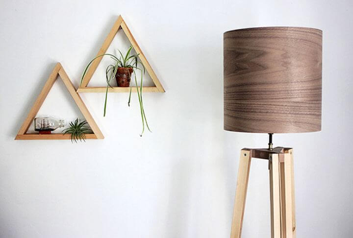 diy room decor, diy triangle shelve idea, diy crafts and projects, diy projects