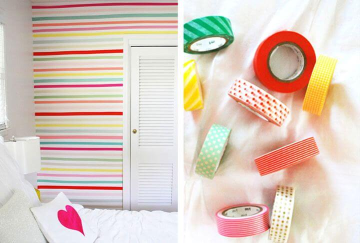 diy room decor, washi tap room decor, wall decor,