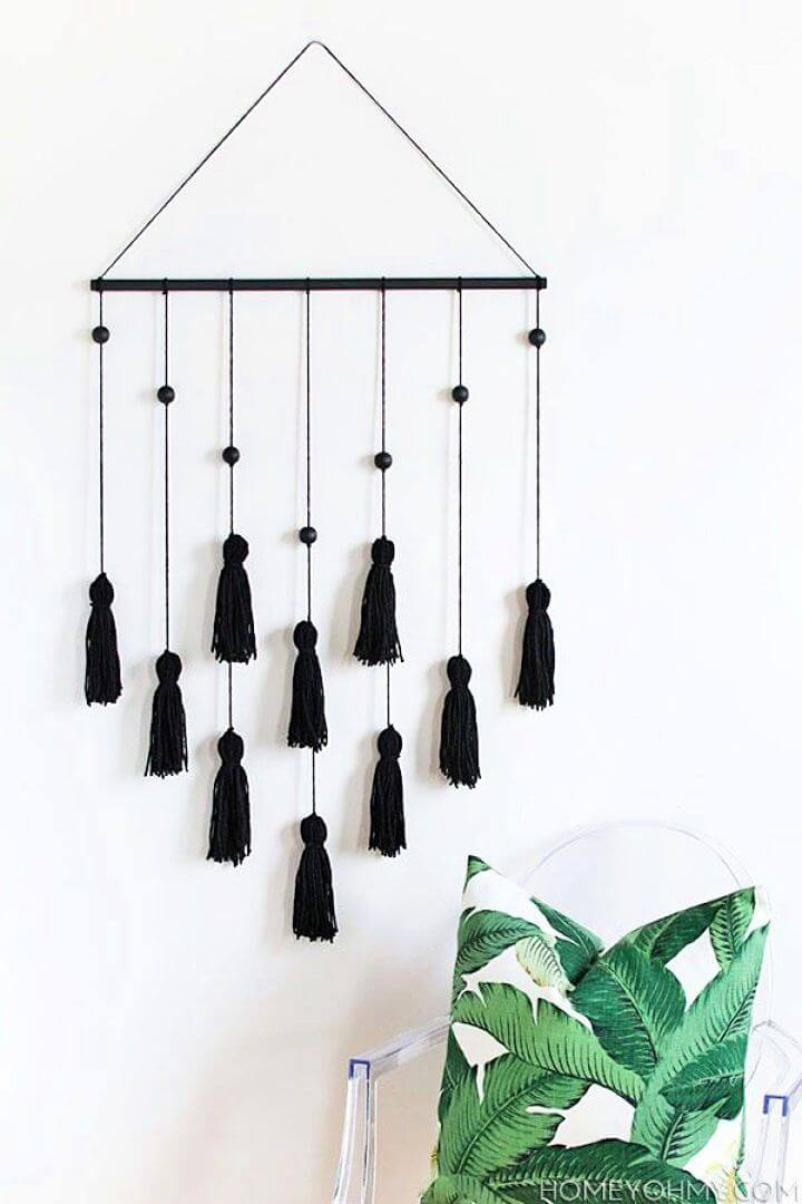 tassel wall hanging idea, diy crafts, diy room decor, diy idea, diy crafts and projects