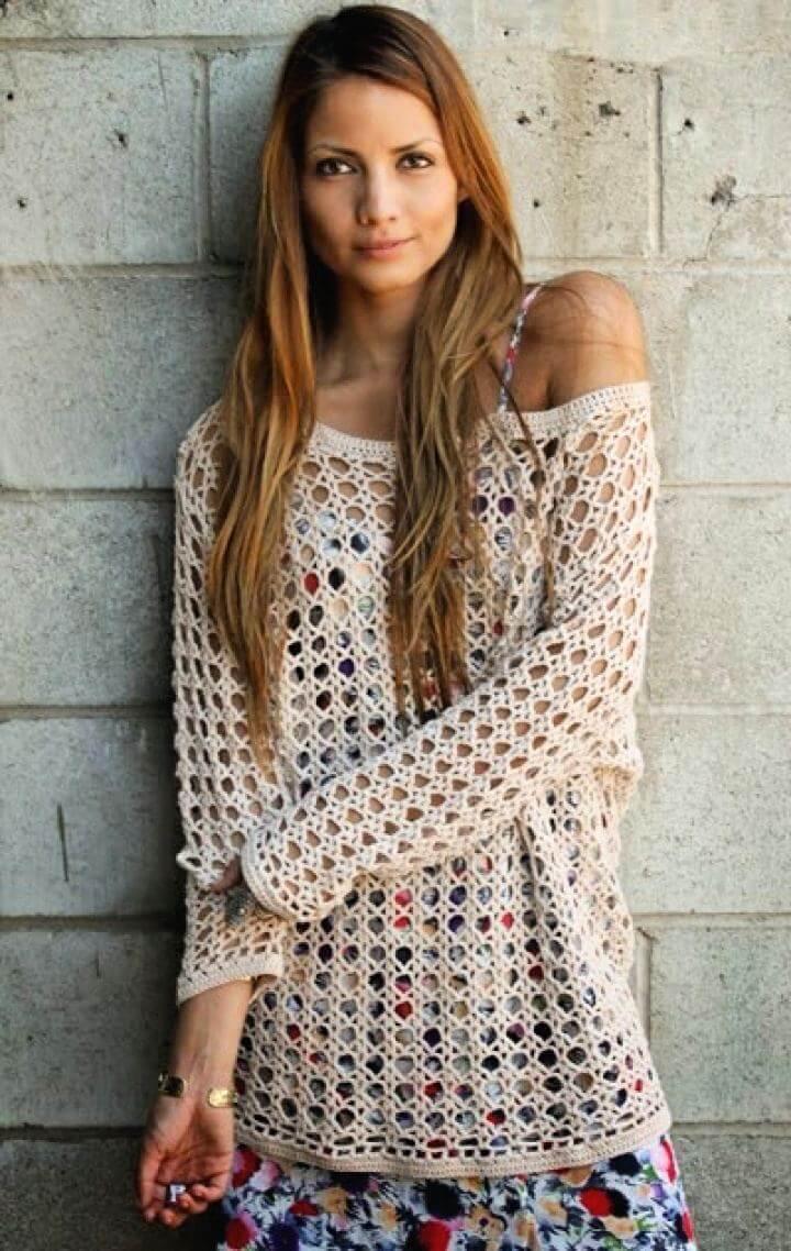 heirloom crochet, sweater crochet, crochet idea