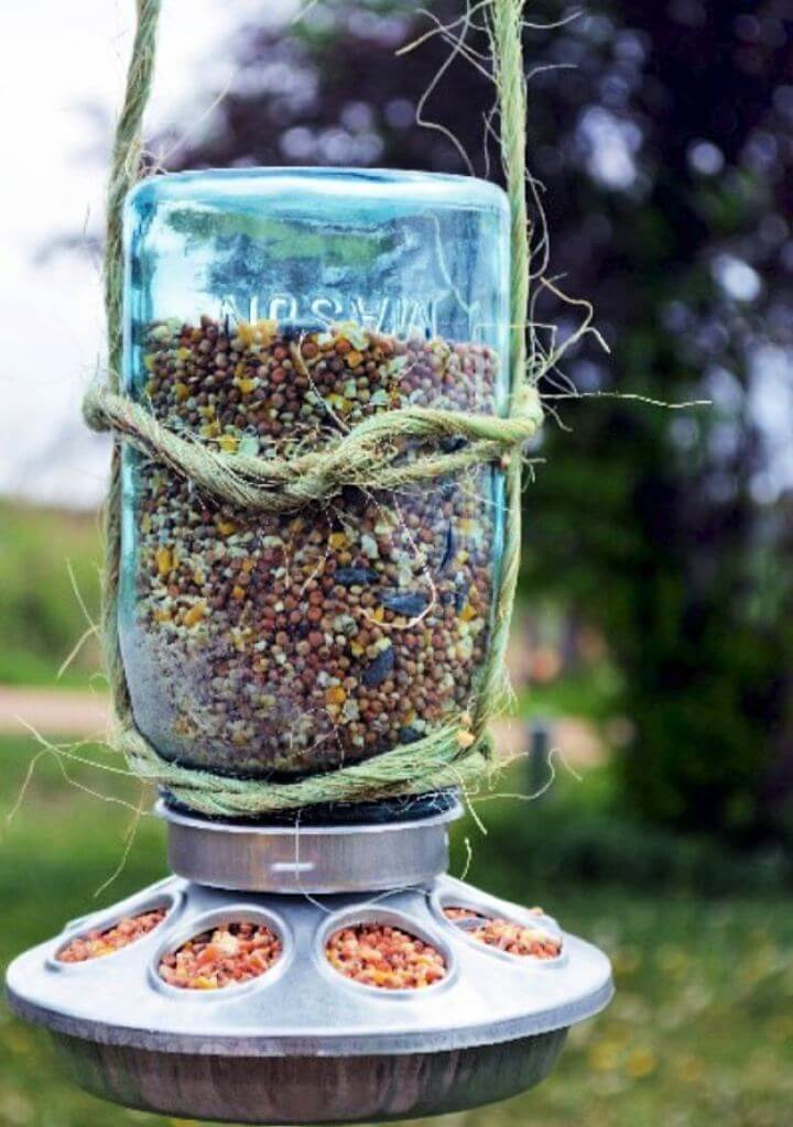 bird feeder jar, storage jars, diy mason jar, diy crafts, diy projects