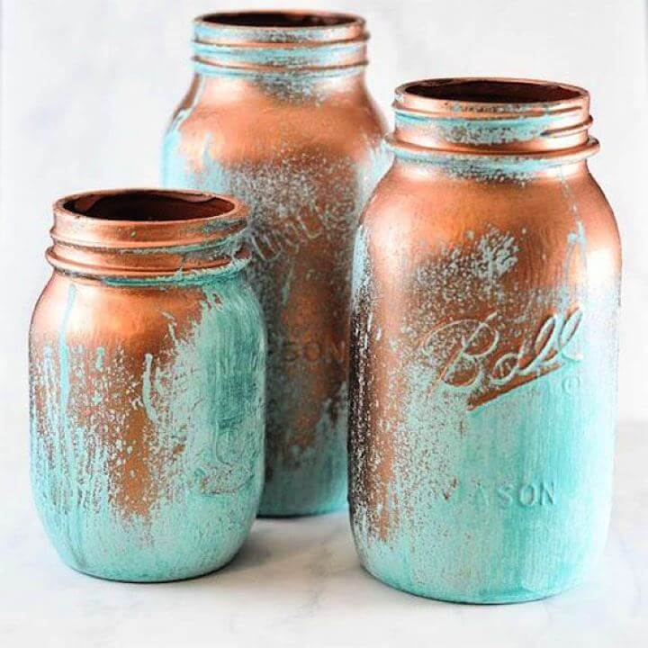 painted mason jar, cool mason jar, attractive mason jar