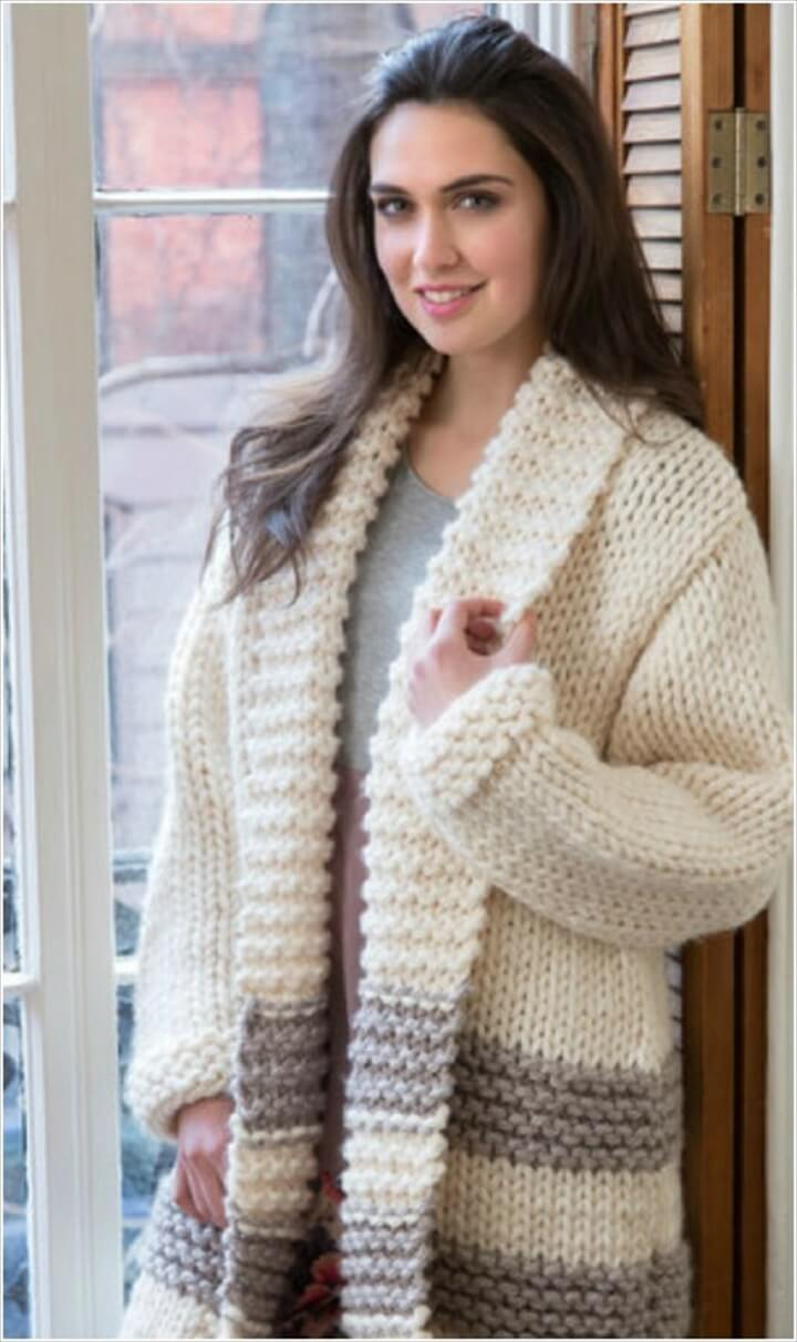 coat sweater, sweater idea, car coat sweater, crochet ideas
