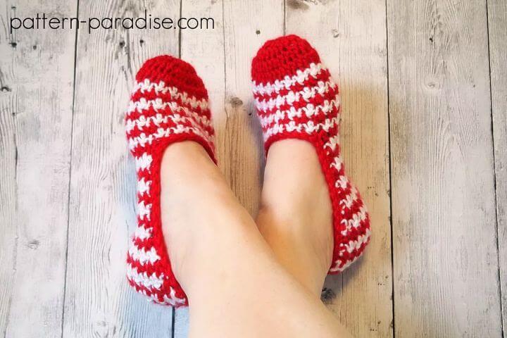 christmas crochet, crochet slippers, diy ideas, diy projects,