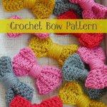 crochet bow, bow tutorials, crochet pattern