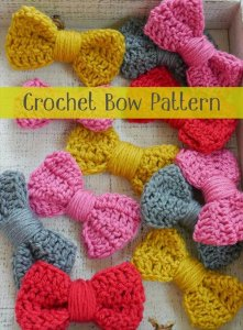 crochet bow, bow tutorials, crochet pattern