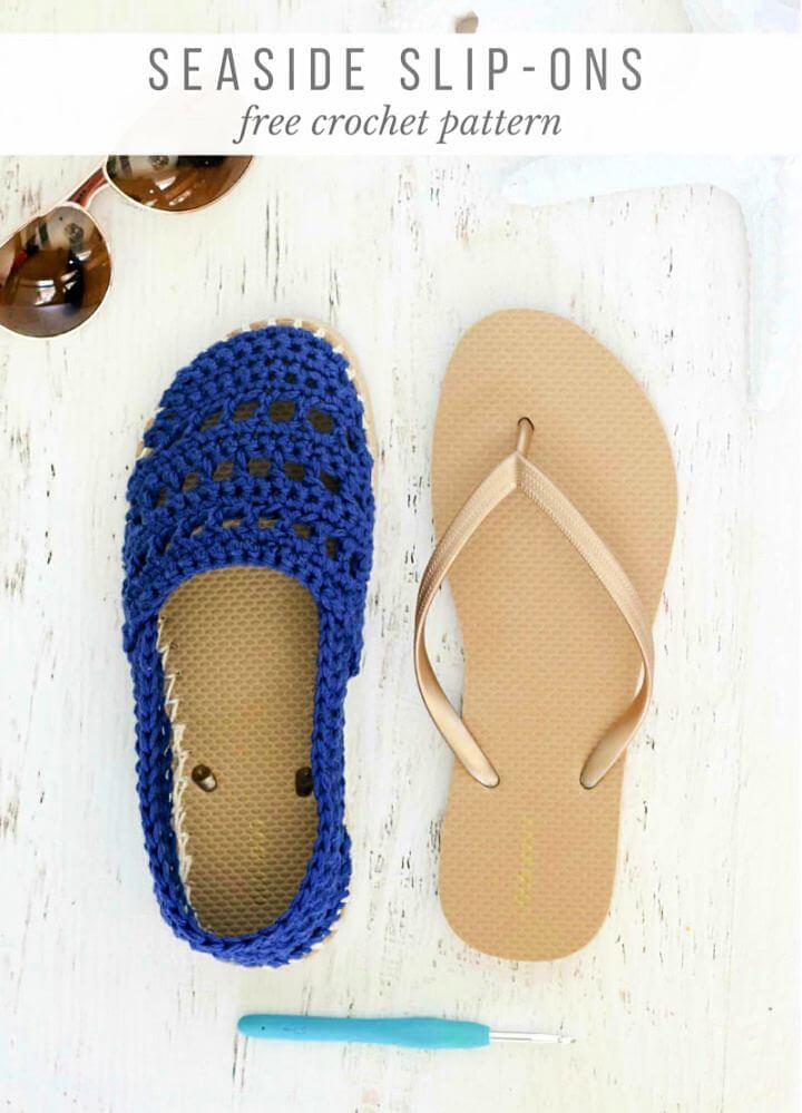 diy flip flop, flip flop shoe, crochet flip flop, how to make