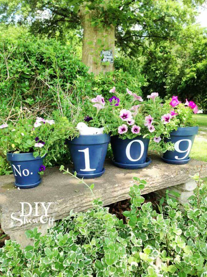 garden decor, diy garden, house number, garden idea, garden crafts