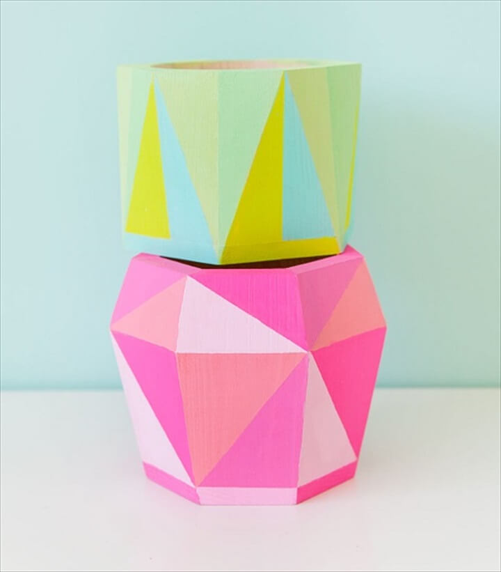 painted container, wood container, diy crafts, diy projects