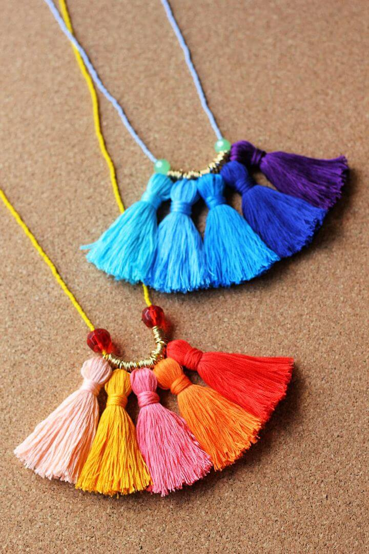 tassel necklace, unique ideas, how to, diy, diy crafts
